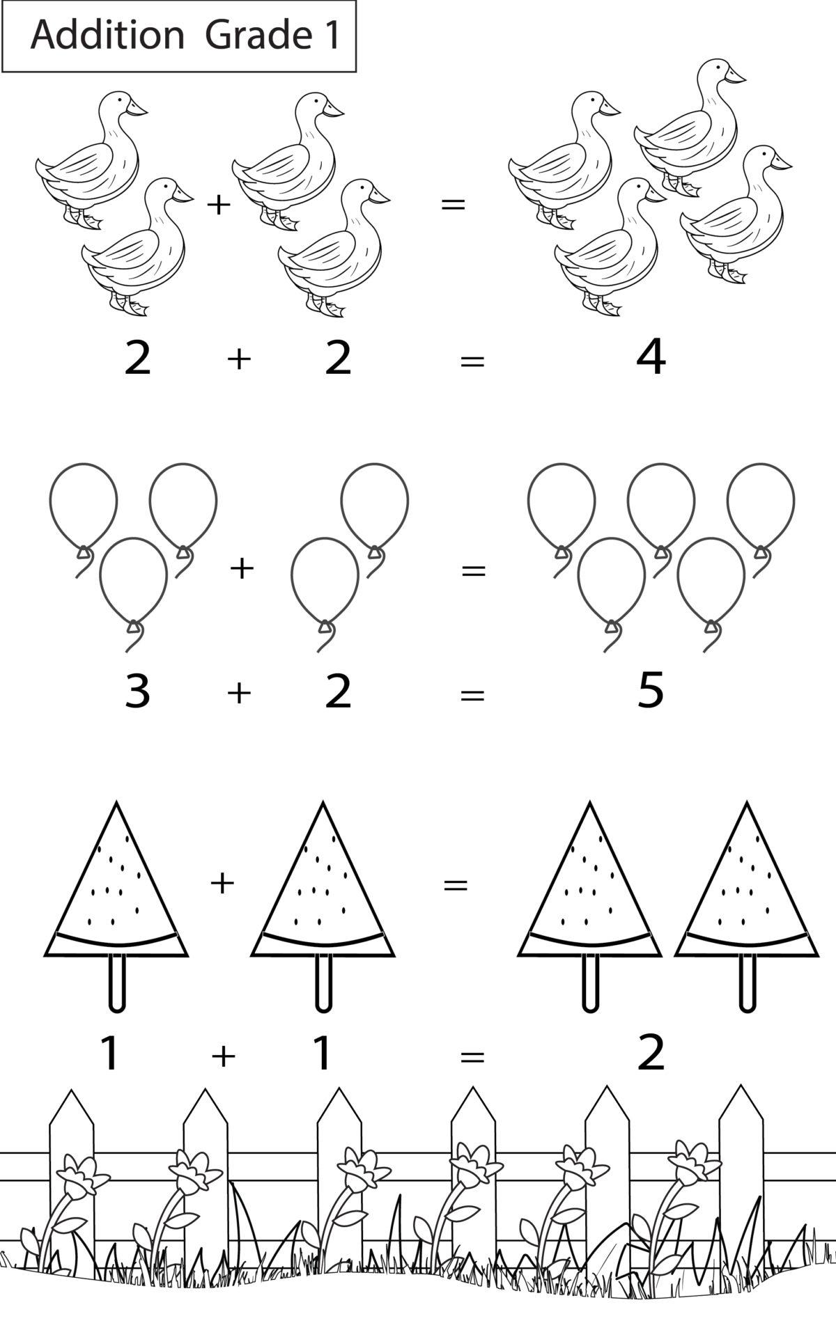 - Maths Worksheets Grade 1 Chapter Addition - Key2practice Workbooks