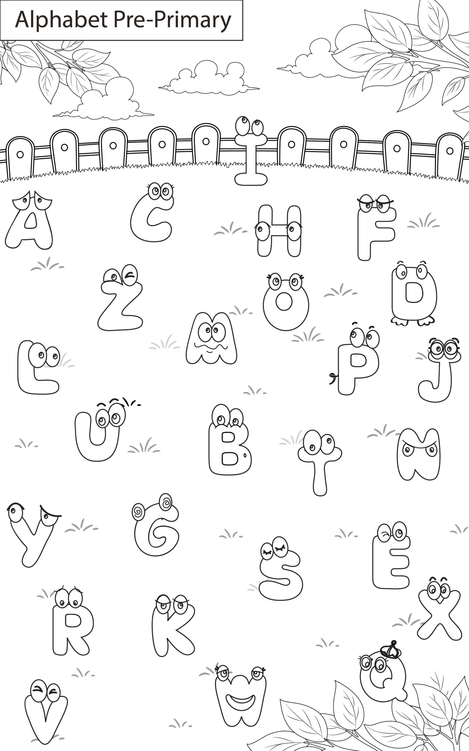English Worksheets On Alphabet For Grade 1 - key2practice ...