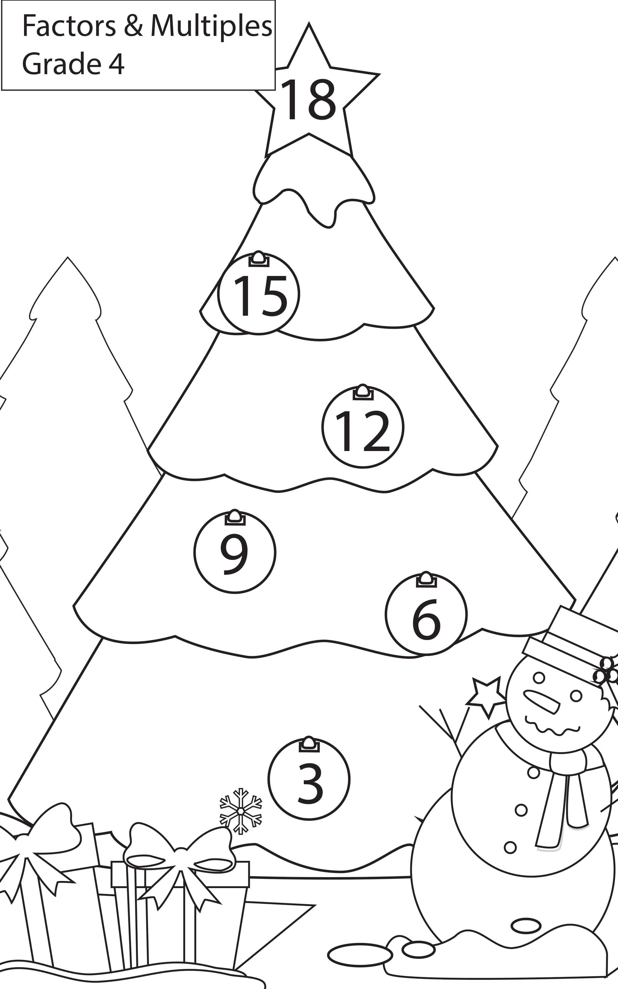Maths Worksheets Grade 4 Factors & Multiples