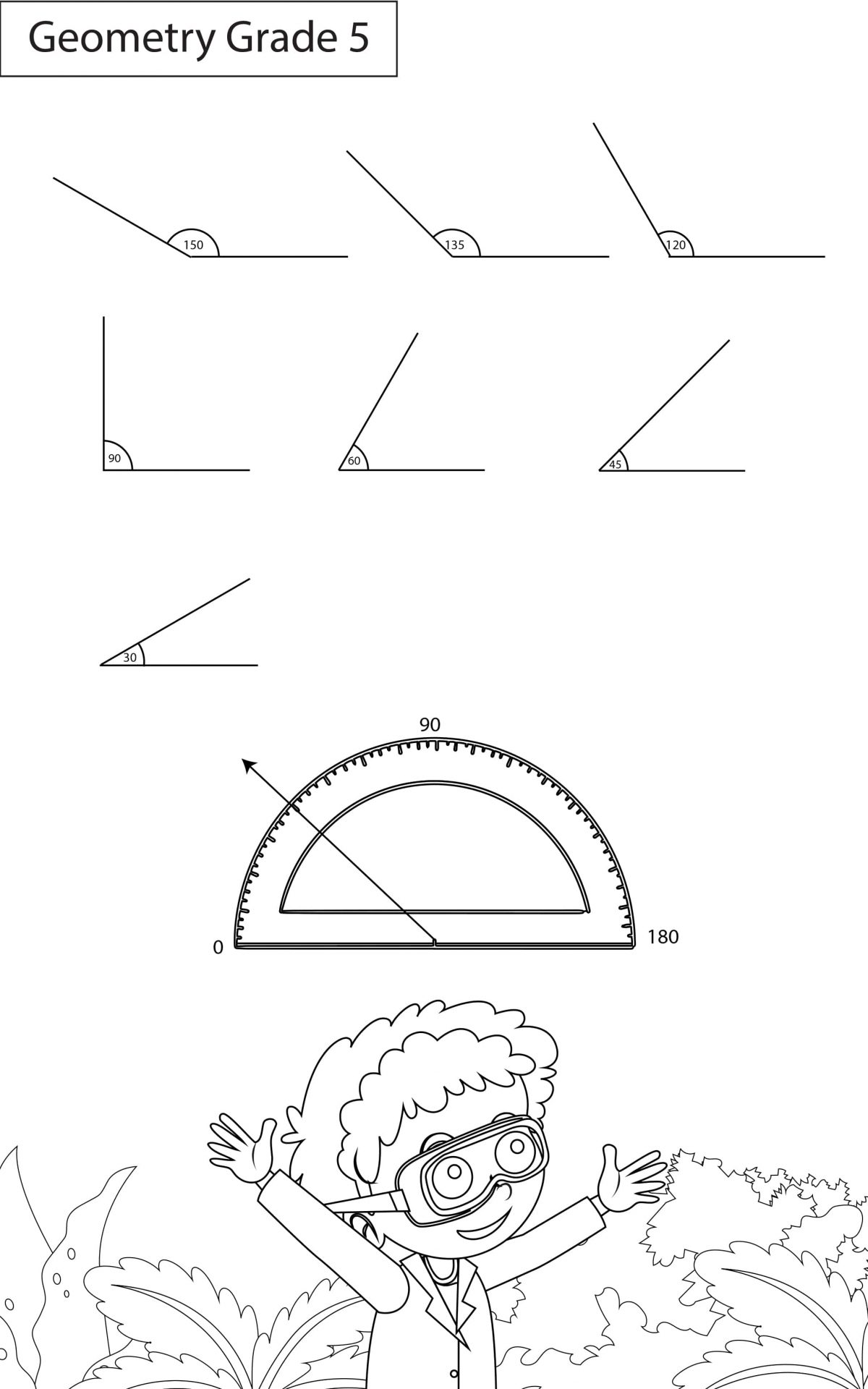 Types Of Angles Worksheets Grade 5 Maths Key2practice Workbooks