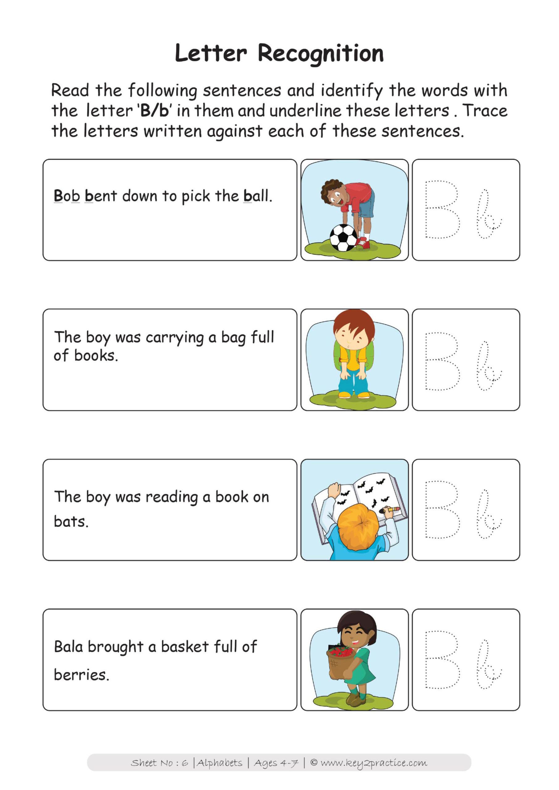 English Worksheets On Alphabet For Grade 1 - key2practice ...